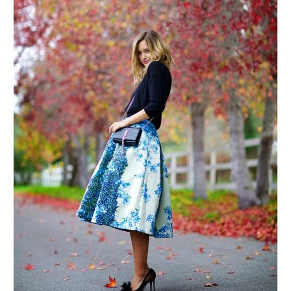 6477b00f8d Tibi Skirts | Hostpick Sidewalk Silk Full Skirt | Poshmark